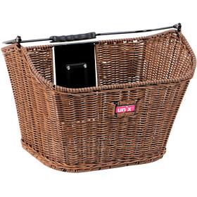 Unix Manolo Front Wheel Basket KlickFix, finely woven brown